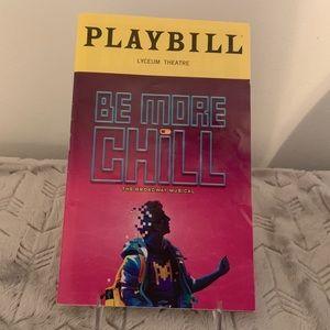 BE MORE CHILL Original Broadway Cast Playbill